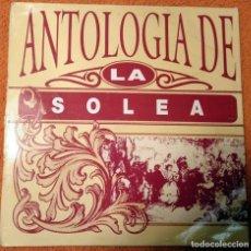 Discos de vinilo: CUATRO VINILOS LPS ANTOLOGIA DE LA SOLEA, EL FANDANGO, DE BUGUERIA Y LA TARANTA. Lote 145246598