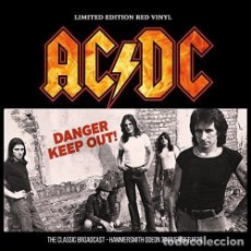 Discos de vinilo: AC/DC: DANGER KEEP OUT! - LP - LONDON, ENGLAND, 3 NOVEMBER, 1979 - NUEVO PRECINTADO 180GR. Lote 145249662