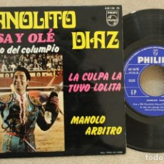 Discos de vinilo: MANOLITO DIAZ ARSA Y OLE EP VINYL MADE IN SPAIN 1968. Lote 145254926
