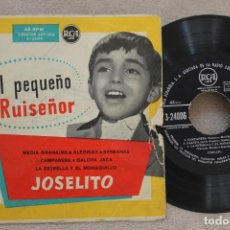 Discos de vinilo: JOSELITO EL PEQUEÑO RUISEÑOR MEDIA GRANAINA EP VINYL MADE IN SPAIN. Lote 145255258