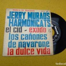 Discos de vinilo: SINGLE EP JERRY MURAD'S HARMONICATS–LOVE THEME FROM EL CID (EX-VG+) SPAIN Ç. Lote 145259742