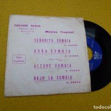 Discos de vinilo: SINGLE EP BARCO Y SU RITMO - SEÑORITA CUMBIA - 1973 PROMO MUSICA TROPICAL Ç. Lote 145264862