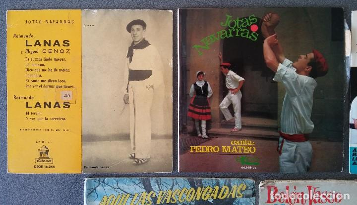 Discos de vinilo: Lote singles Jotas Navarras Música Vasca Raimundo Lanas Pedro Mateo Los Contrapuntos - Foto 2 - 145266950