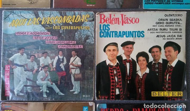 Discos de vinilo: Lote singles Jotas Navarras Música Vasca Raimundo Lanas Pedro Mateo Los Contrapuntos - Foto 4 - 145266950