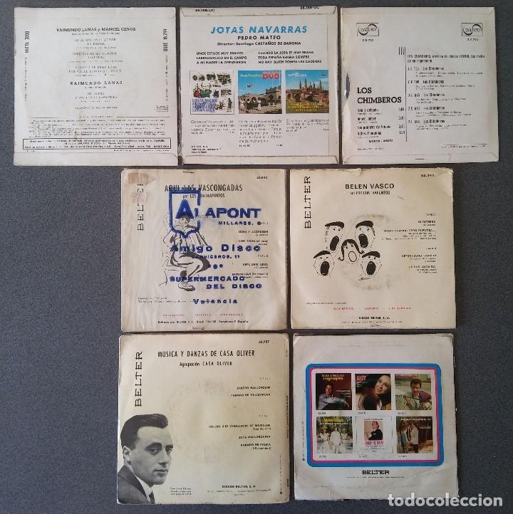 Discos de vinilo: Lote singles Jotas Navarras Música Vasca Raimundo Lanas Pedro Mateo Los Contrapuntos - Foto 10 - 145266950