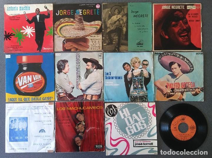 LOTE SINGLES ANTONIO MACHIN JORGE NEGRETE LOS VAN VAN JORGE CAFRUNE Y MARITO LOS 3 SUDAMERICANOS (Música - Discos de Vinilo - EPs - Grupos y Solistas de latinoamérica)