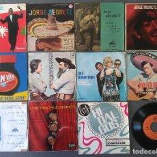 Discos de vinilo: LOTE SINGLES ANTONIO MACHIN JORGE NEGRETE LOS VAN VAN JORGE CAFRUNE Y MARITO LOS 3 SUDAMERICANOS. Lote 145268166