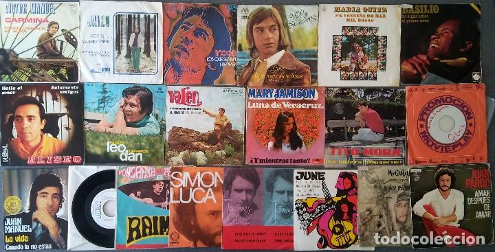 LOTE SINGLES CANTAUTORES VICTOR MANUEL JAIRO MOCHI WILLY SOMMERS MARIA OSTIZ TOMMY LARA JUNE (Música - Discos de Vinilo - EPs - Solistas Españoles de los 70 a la actualidad)