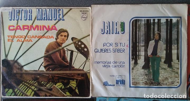 Discos de vinilo: Lote singles cantautores Victor Manuel Jairo Mochi Willy Sommers Maria Ostiz Tommy Lara June - Foto 2 - 145268898
