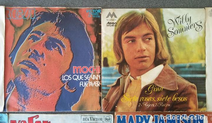 Discos de vinilo: Lote singles cantautores Victor Manuel Jairo Mochi Willy Sommers Maria Ostiz Tommy Lara June - Foto 3 - 145268898