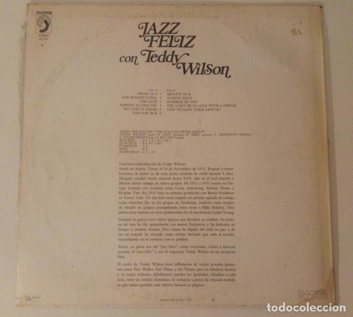 Discos de vinilo: Teddy Wilson & The Ove Lind Swing Group - Jazz Feliz - Foto 2 - 145269146