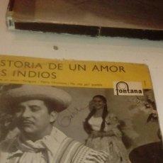 Discos de vinilo: BAL-7 DISCO CHICO 7 PULGADAS HISTORIA DE UN AMOR LOS INDIOS . Lote 145269438