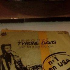 Discos de vinilo: BAL-7 DISCO CHICO 7 PULGADAS SOLO CARATULA SIN DISCO TURNING POINT TYRONE DAVIS . Lote 145270042