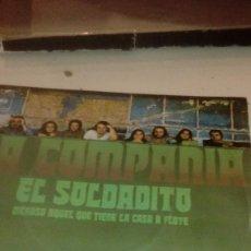 Discos de vinilo: BAL-7 DISCO CHICO 7 PULGADAS SOLO CARATULA SIN DISCO LA COMPAÑIA EL SOLDADITO . Lote 145271594