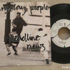 Discos de vinilo: EVERYDAY PEOPLE HEADLINE NEWS SINGLE VINYL . Lote 145277162