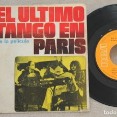 Discos de vinilo: BSO EL ULTIMO TANGO EN PARIS SINGLE VINYL MADE IN SPAIN 1973. Lote 145281690