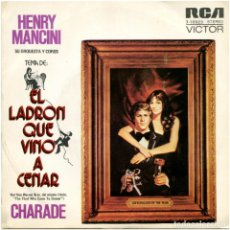Discos de vinilo: HENRY MANCINI SU ORQ. Y COROS – EL LADRÓN QUE VINO A CENAR - SG SPAIN 1973 - RCA VICTOR. Lote 145286926