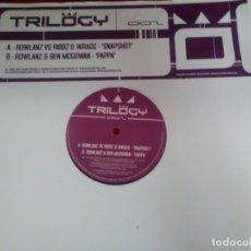 Discos de vinilo: VINILO TECHNO 45 RPM MAXI ROWLANZ VS RIBBZ & WRAGG * SNAPSHOT * ROWLANZ & MCGOWN * PAPPA *. Lote 145309850