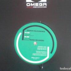 Discos de vinilo: VINILO TECHNO 45 RPM MAXI REMIX BUENOS PEDRO DELGARDO DUAL FACE IGNORE VELOCITY OMEGA AUDIO. Lote 145313538