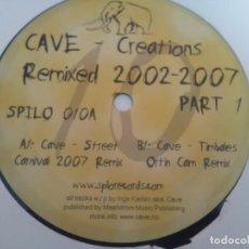 Discos de vinilo: VINILO TECHNO 45 RPM MAXI CAVE STREET CARNIVAL TIMBALES ORTIN CAM. Lote 145316178