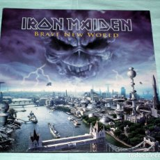 Discos de vinilo: LP IRON MAIDEN - BRAVE NEW WORLD - PRIMERA EDICION. Lote 145316134