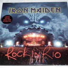 Discos de vinilo: LP IRON MAIDEN - ROCK IN RIO - PRIMERA EDICION. Lote 145316658