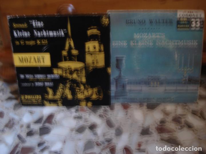 LOTE 2 EP EINE KLEINE NACHTMUSIK MOZART BRUNO WALTER Y RUDOLF MORALT (Música - Discos de Vinilo - EPs - Clásica, Ópera, Zarzuela y Marchas)