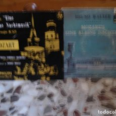 Discos de vinilo: LOTE 2 EP EINE KLEINE NACHTMUSIK MOZART BRUNO WALTER Y RUDOLF MORALT. Lote 145316922