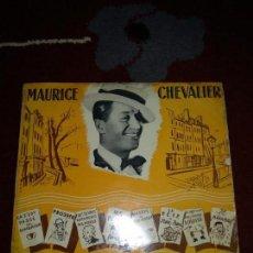 Discos de vinilo: MAURICE CHEVALIER. Lote 145336378