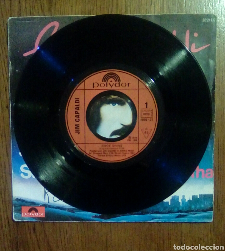 Discos de vinilo: Jim Capaldi - Shoe shine / Tabitha, Polydor, 1979. France. - Foto 3 - 145350176