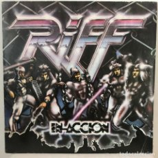 Discos de vinilo: RIFF - EN ACCIÓN - DOBLE LP EN VIVO - 1983 PAPPO'S BLUES HERMÉTICA, RATA BLANCA. Lote 195024111