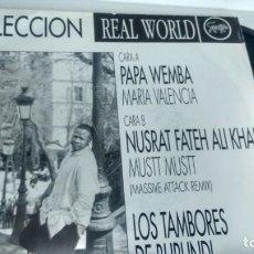 Discos de vinilo: SINGLE (VINILO) -PROMOCION-REAL WORLD AÑOS 90. Lote 145364066