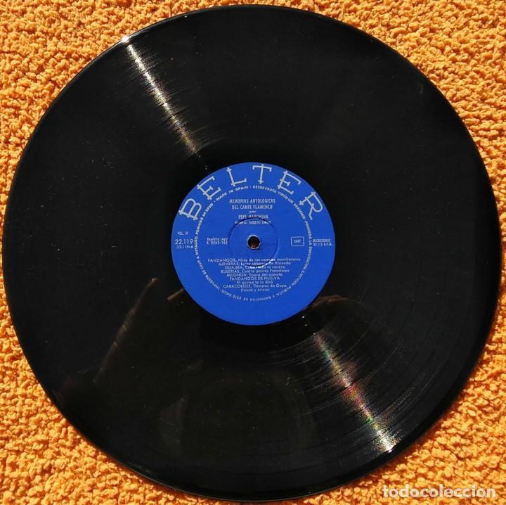 Discos de vinilo: Vinilo LP Pepe Marchena - Memorias antológicas del cante flamenco Vol 3 - 1963 - Foto 2 - 145378642