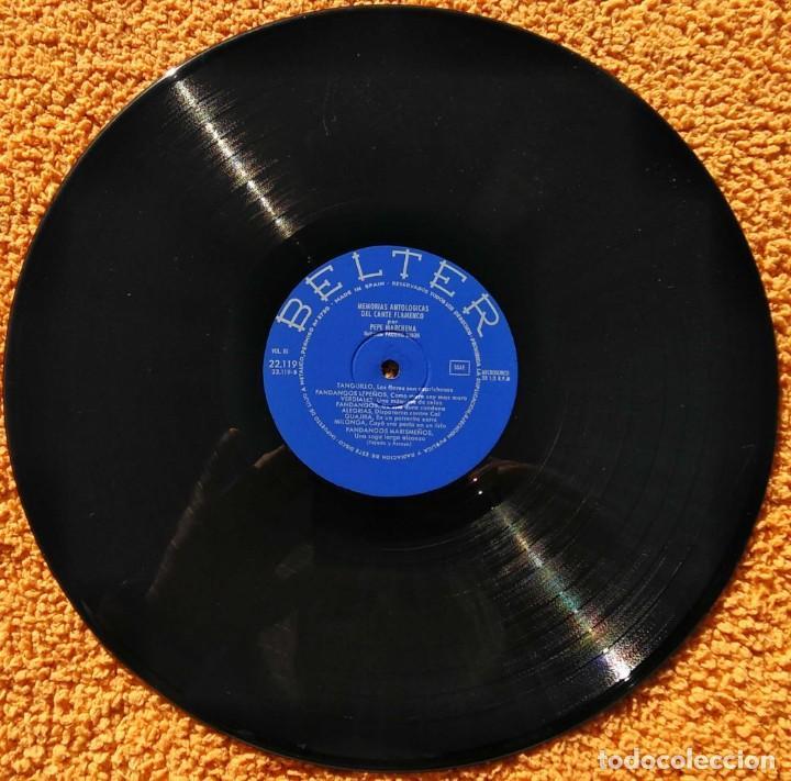 Discos de vinilo: Vinilo LP Pepe Marchena - Memorias antológicas del cante flamenco Vol 3 - 1963 - Foto 3 - 145378642