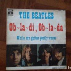 Discos de vinilo: BEATLES - OB-LA-DI, OB-LA-DA. Lote 145395270