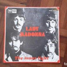 Discos de vinilo: BEATLES - LADY MADONNA. Lote 145395378