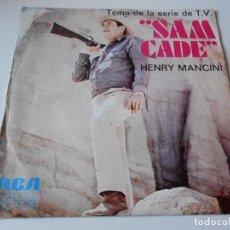 Discos de vinilo: HENRY MANCINI, SG, SAM CADE + IRONSIDE, AÑO 1973. Lote 145419078