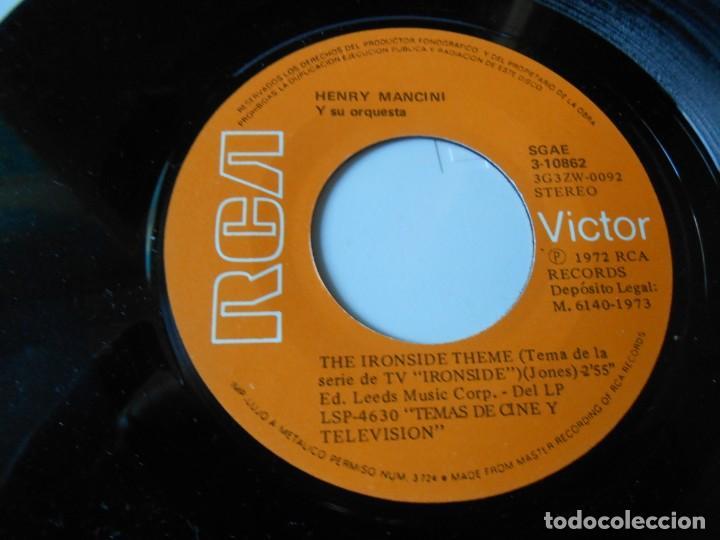 Discos de vinilo: HENRY MANCINI, SG, SAM CADE + IRONSIDE, AÑO 1973 - Foto 4 - 145419078