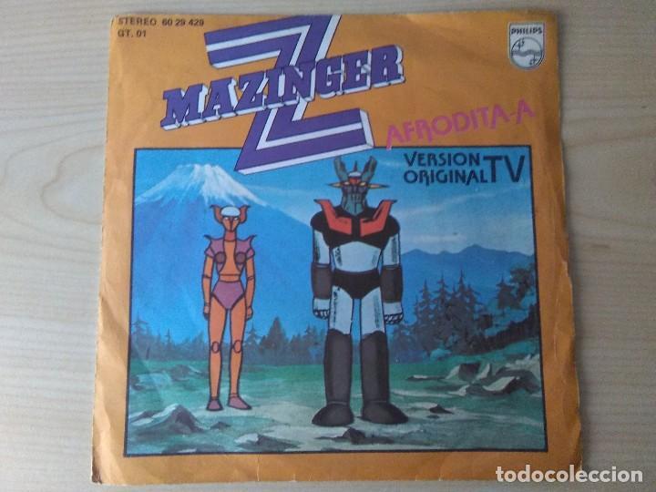 MAZINGER Z_MAJING? ZETTO AFRODITA A_MANGA_ORIG.SOUNDTRACK SPAIN 7'' 1978 (Música - Discos de Vinilo - Maxi Singles - Música Infantil)
