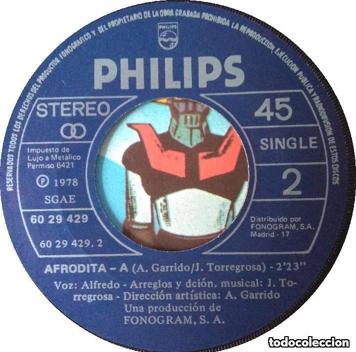 Discos de vinilo: MAZINGER Z_Majing? Zetto Afrodita A_MANGA_Orig.Soundtrack SPAIN 7 1978 - Foto 3 - 145426498