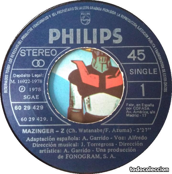 Discos de vinilo: MAZINGER Z_Majing? Zetto Afrodita A_MANGA_Orig.Soundtrack SPAIN 7 1978 - Foto 4 - 145426498