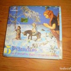 Discos de vinilo: CORO Y RONDALLA ALEGRIA. 5 VILLANCICOS. COLUMBIA, 1969. IMPECABLE. Lote 145426734
