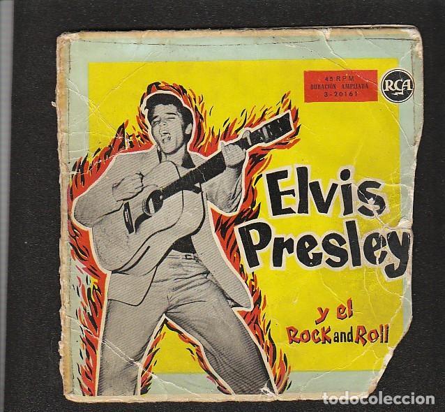 ELVIS PRESLEY: SOLO PORTADA- RARO DE RCA-MUY BIEN (Música - Discos de Vinilo - EPs - Pop - Rock Extranjero de los 50 y 60)