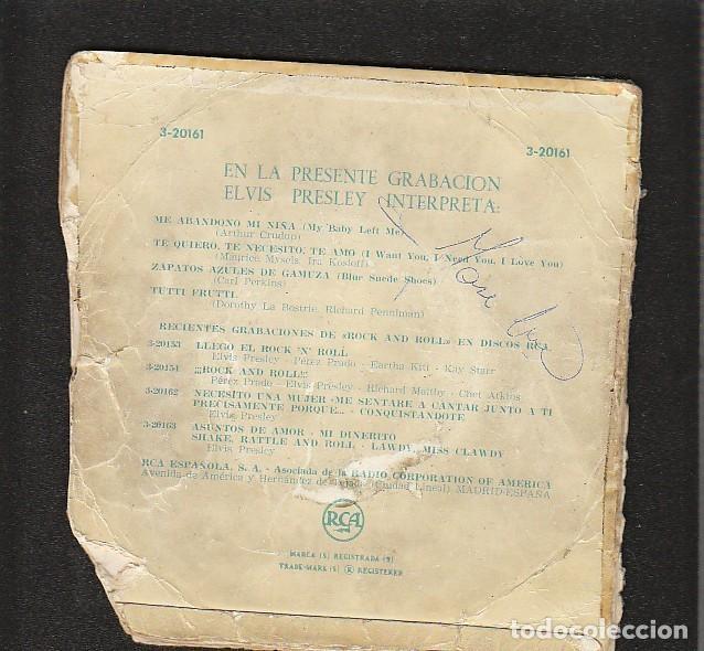 Discos de vinilo: ELVIS PRESLEY: SOLO PORTADA- RARO de RCA-MUY BIEN - Foto 2 - 145436710