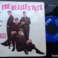 Disques de vinyle: THE BEATLES, HIT'S, SHE LOVES YOU + FROM ME TO YOU + I'LL GET YOU + THANK YOU GIRL. Lote 145443178