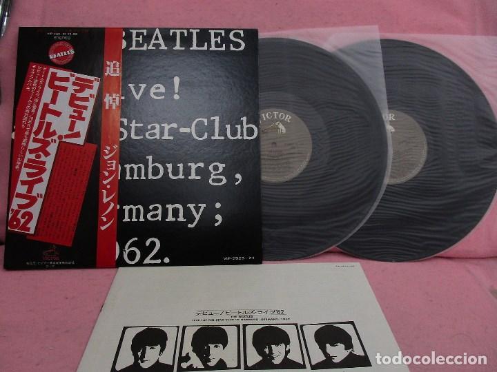 VINILO EDICIÓN JAPONESA DEL DOBLE LP DE THE BEATLES - LIVE AT THE STAR CLUB , HAMBURG , GERMANY 1962 (Música - Discos - LP Vinilo - Pop - Rock Internacional de los 50 y 60)