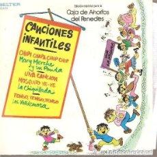 Discos de vinilo: MARY MERCHE, LA CHIQUILLADA, LOS VALLDEMOSA - CANCIONES INFANTILES - EP CAJA PENEDES. Lote 145486362