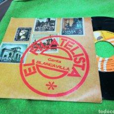 Discos de vinilo: BLANCA VILLA SINGLE PROMOCIONAL EL FILATELISTA ESPAÑA 1977. Lote 145522829