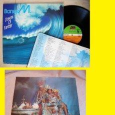 Discos de vinilo: BONEY M - OCEANS OF FANTASY 79 RARA 1ª EDC ORG UK + ENCARTE Y GIGANTE DESPEGABLE, TODO EXC. Lote 145542498