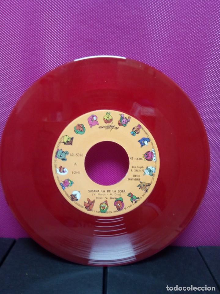 Discos de vinilo: CUENTOS INFANTILES FESTIVAL SUSANA LA DE LA SOPA Y QUIEN LEVANTO LAS OLIMPIADAS AÑOS 70 - Foto 3 - 145556514